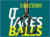 Vasectomy 'It Takes Balls' Information